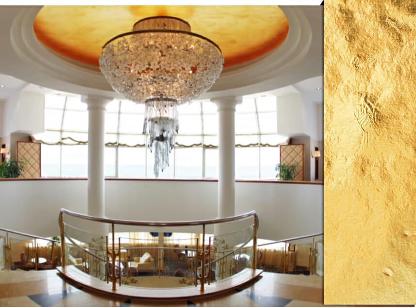Gold-Leafing Midas Wall Texture Design